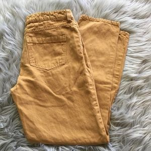 Anthropologie Jeans - Pilcro and the Letterpress Hyphen Yellow Jeans